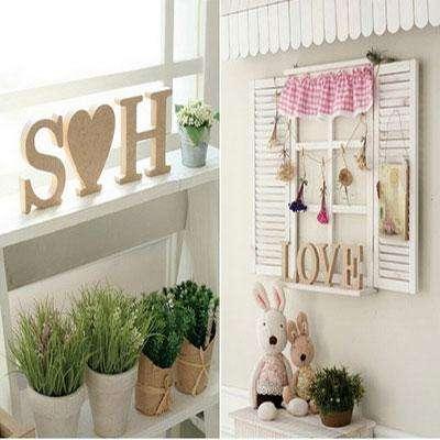 Деревянные буквы для декора