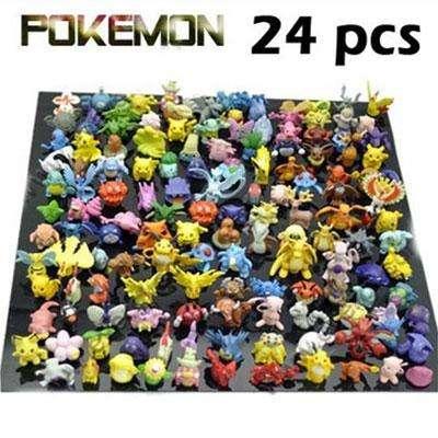 24 фигурки покемонов