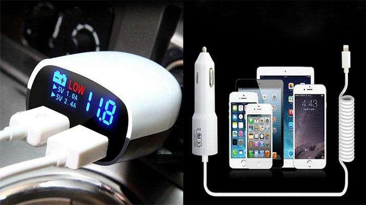 Фото: Автомобильная зарядка для телефона на Алиэкспресс