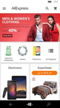 Приложение Алиэкспресс для windows 10 mobile