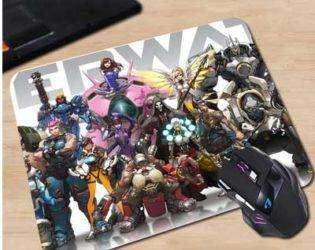 Коврик с персонажами Overwatch 3