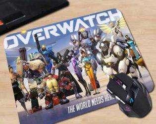 Коврик с персонажами Overwatch 4