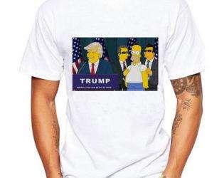 Дональд трамп футболка Симпсоны