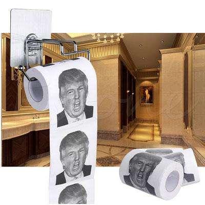 Туалетная бумага с лицом Трампа