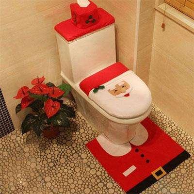 Новогоднее украшение для туалета