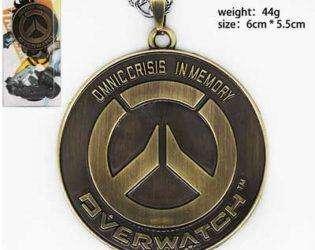 Металлический кулон с логотипом Overwatch