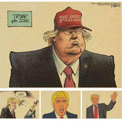 Постеры, карикатуры про Трампа