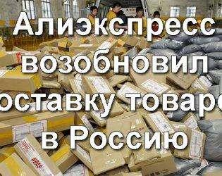 Алиэкспресс возобновил доставку в Россию