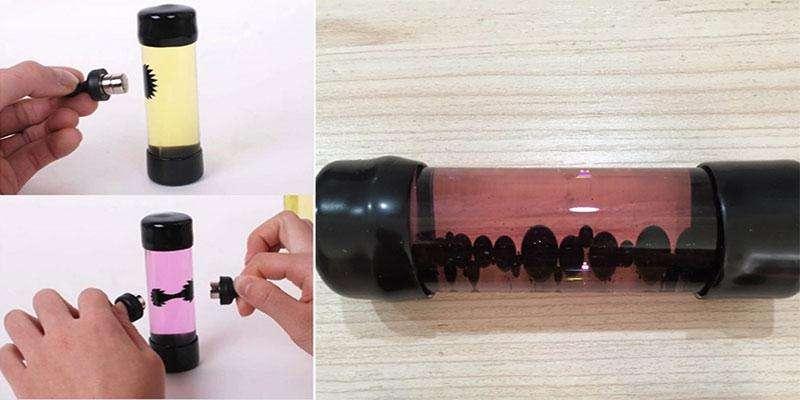 Бутылка с магнитной жидкостью