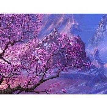 Розовое дерево и горы
