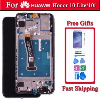 100% Оригинальный ЖК-дисплей для Huawei Honor 10 lite с сенсорным экраном дигитайзер в сборе с рамкой.