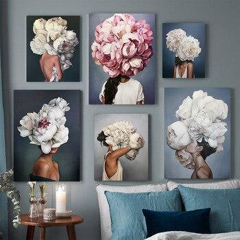 GATYZTORY 60х75см масляная краска для рисования по номерам Цветок и женщины DIY Краска по номерам на холсте домашний декор бескаркасная цифровая кр...