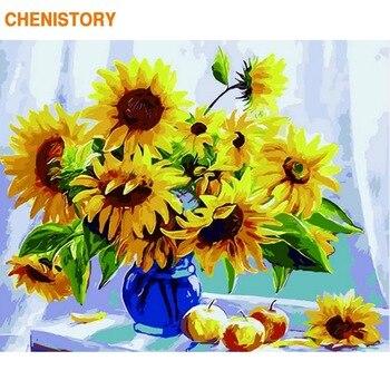 Набор для рисования по номерам на холсте Цветы, без рамки