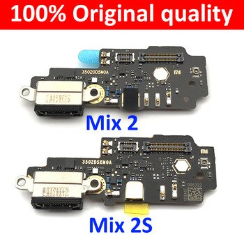 100% Оригинальный док-разъем для Xiaomi Mi Mix 2 S 2 S Mix2s USB зарядное устройство порт для зарядки гибкий кабель плата с микрофоном Micro