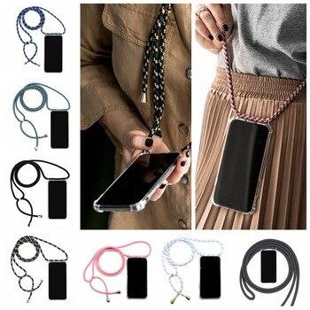 Чехол для сотового телефона со шнурком, ожерелье, плечевой ремень на шею, веревочный шнур для Xiaomi Mi 10 9 SE 8 A2 lite Redmi 7 7a Note 7 pro 6 5
