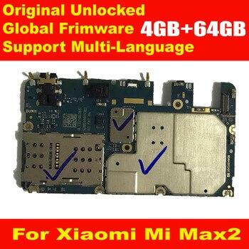 Оригинальная материнская плата для Xiaomi Mi MAX2 MAX 2, глобальная прошивка, 4 ГБ, 64 ГБ, материнская плата, плата за карту, наборы микросхем, гибкий ка...