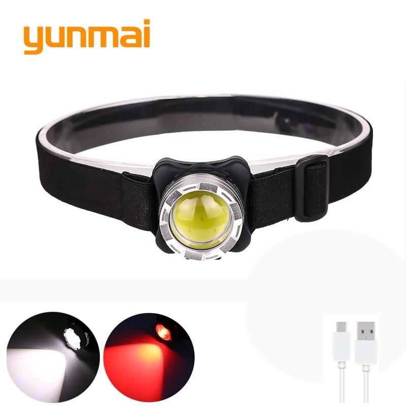 Бюджетный налобный фонарик YUNMAI F006