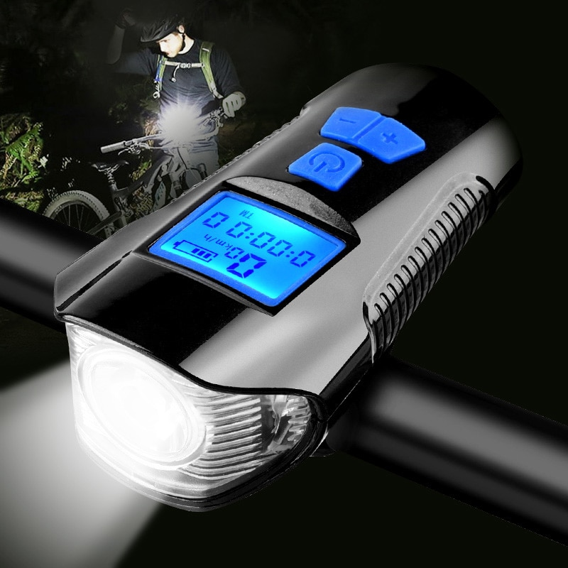 GENIU - передний фонарь для велосипеда с ЖК-экраном