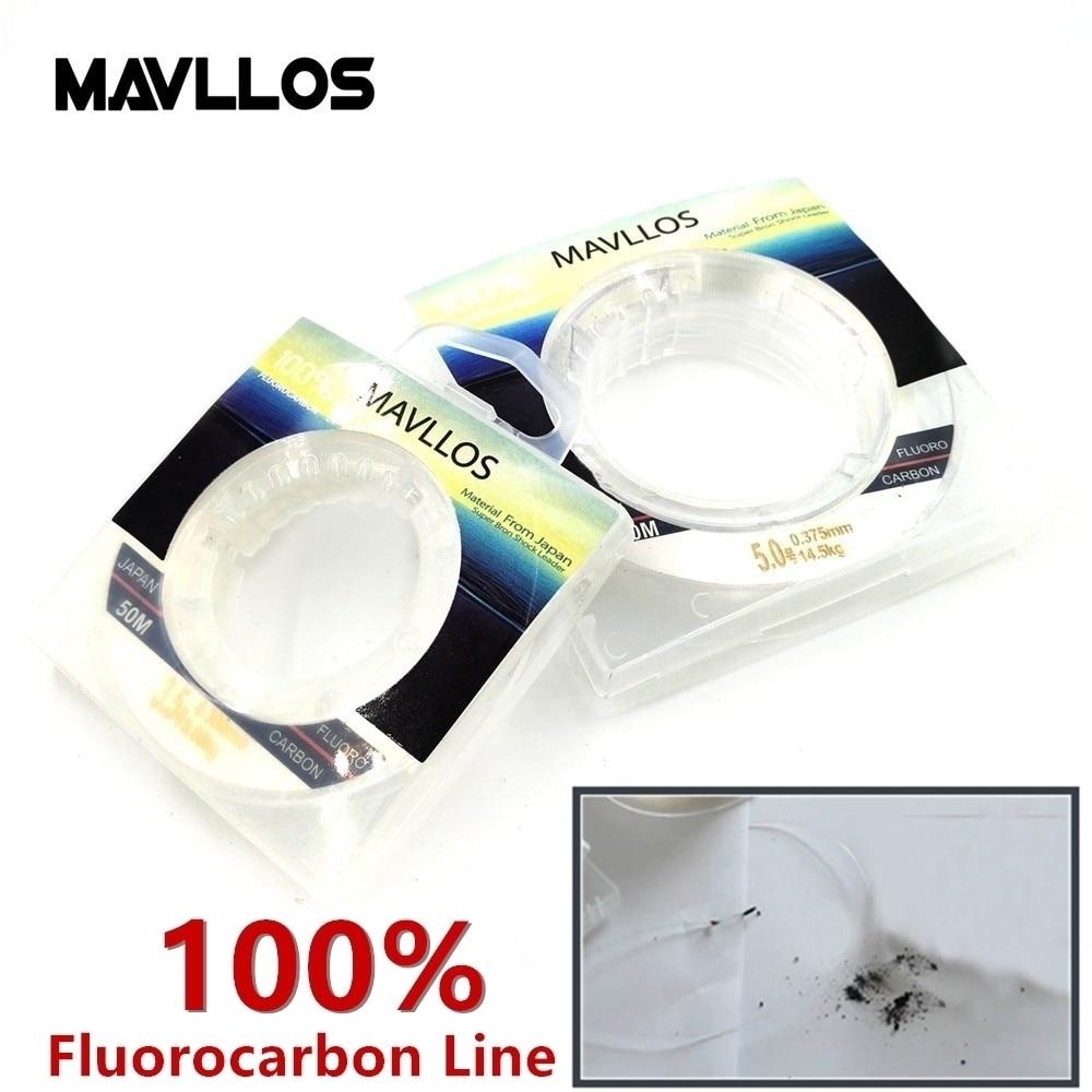 Mavllos - 100% флюрокарбоновая рыболовная леска - 50 м