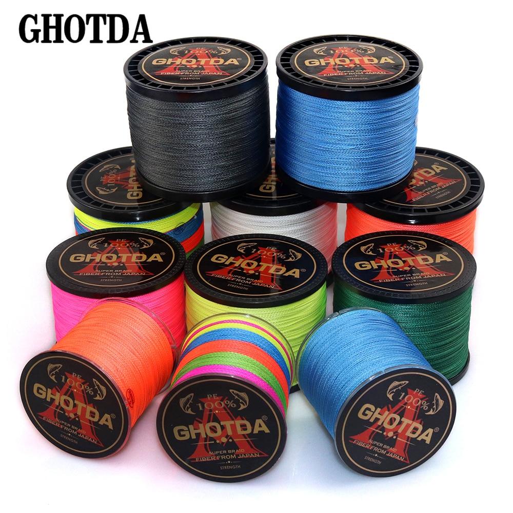 Плетеная рыболовная леска GHOTDA, 4 нити.