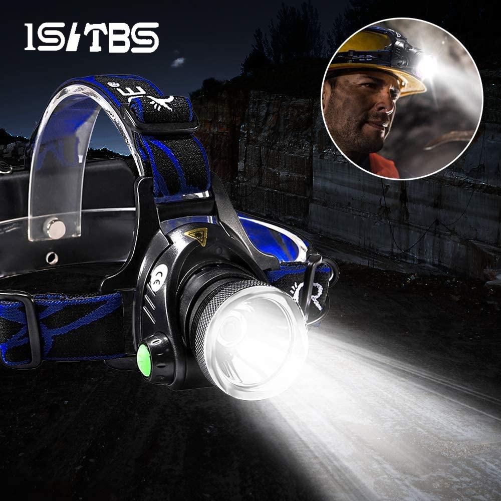Светодиодный налобный фонарь ISLTBS FL00001 на аккумуляторах 18650