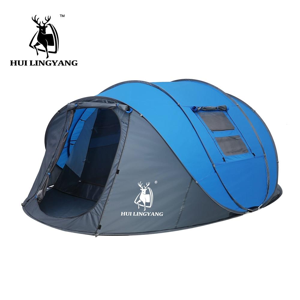 Туристическая двухслойная палатка HUI LINGYANG, на 4-6 человек