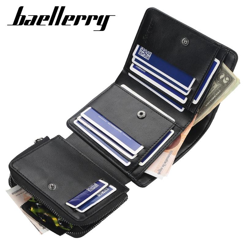 Baelerry bae261 мужской кошелек с большим количеством отделений и гравировкой
