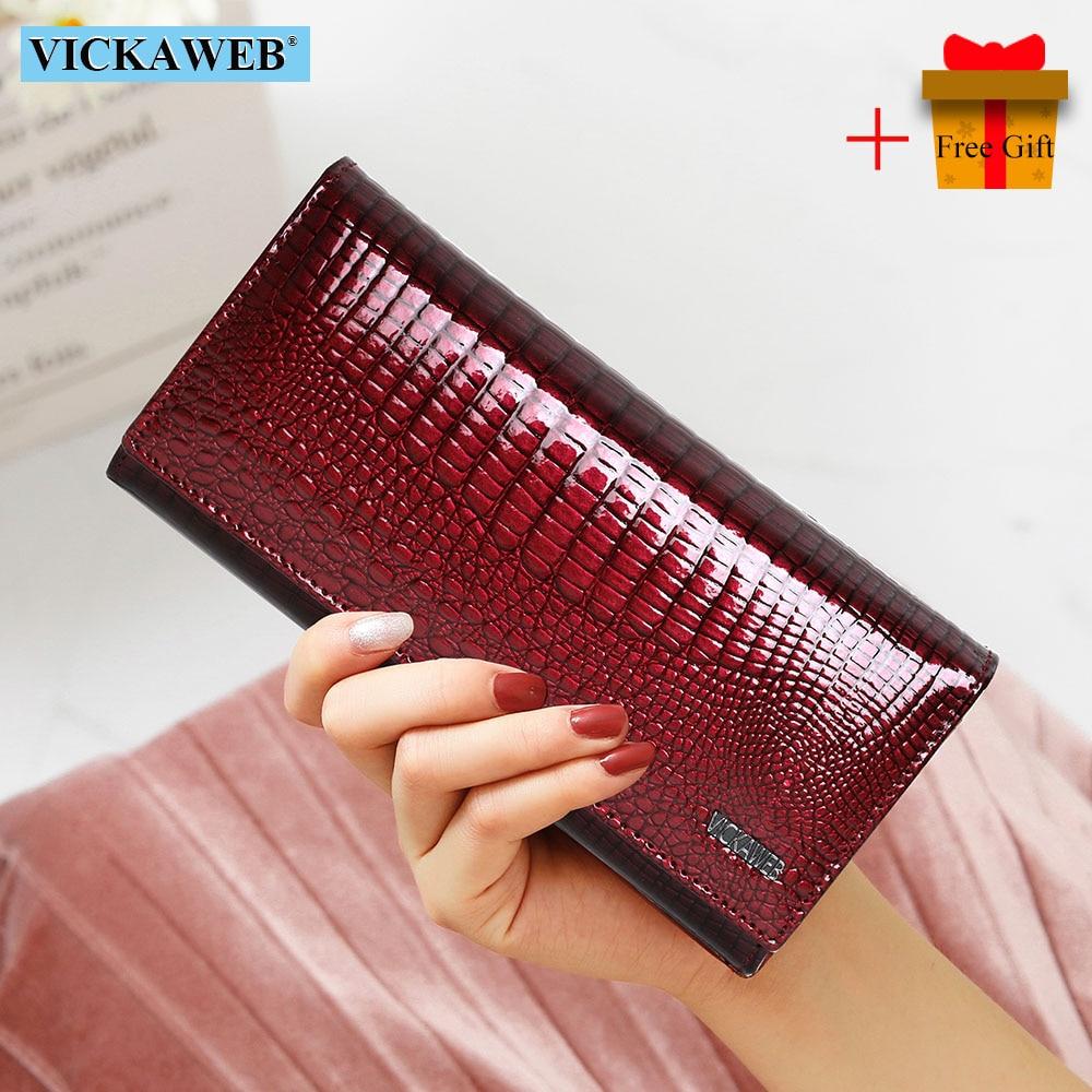 Кожаный кошелек с магнитным замком VICKAWEB AE501-1