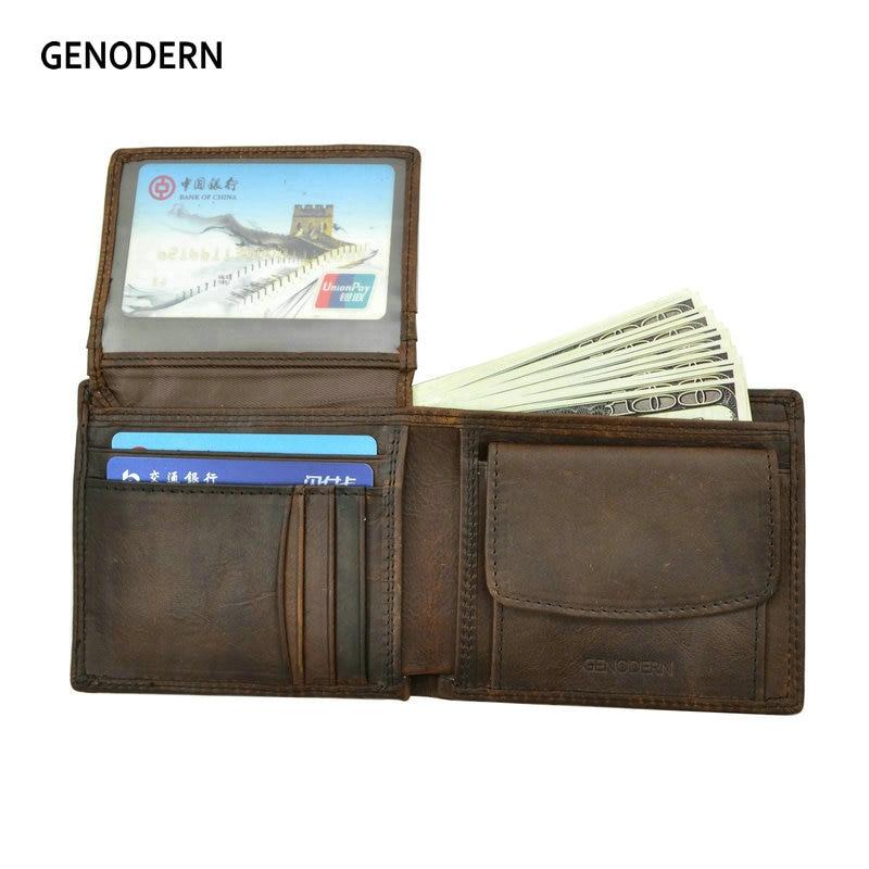 Бумажники GENODERN мужские из коровьей кожи