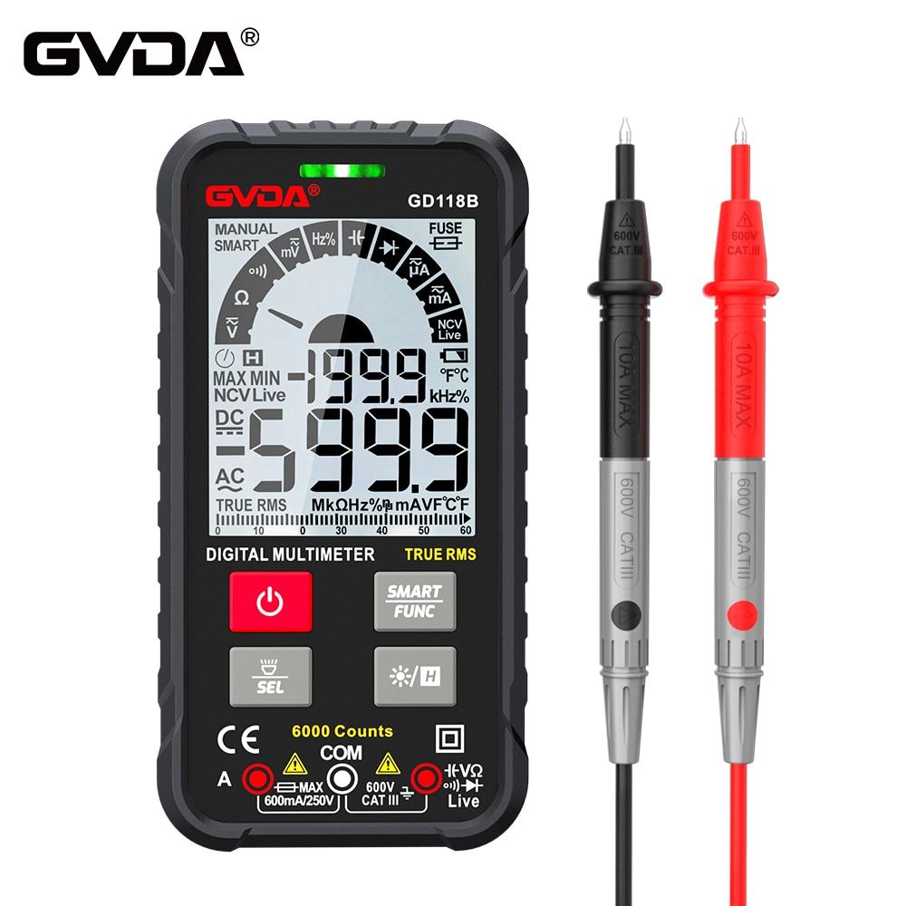 GVDA GD118B цифровой мультиметр Ture RMS