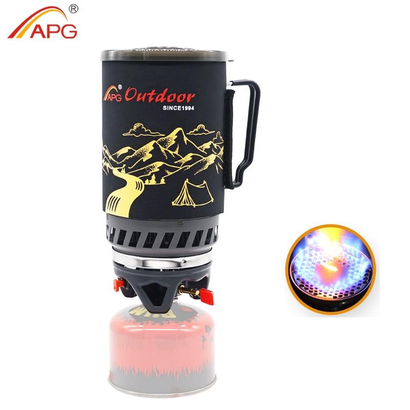 Портативная горелка с котелком APG STO0083