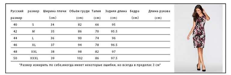 Размеры одежды женские таблица алиэкспресс
