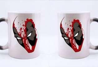 Кружка с принтом Deadpool