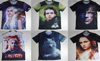 Подборка футболок с персонажами сериала Игра престолов