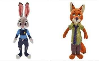 Плюшевые игрушки Джуди Хоппс и Ник Уайлд
